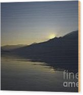 Sunset Over An Alpine Lake Wood Print