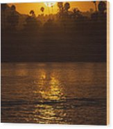 sunset santa Barbara Wood Print