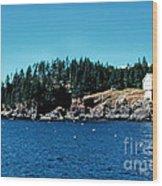 Swans Island Lighthouse Wood Print