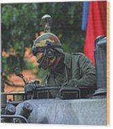 Tank Commander Of A Leopard 1a5 Mbt Wood Print