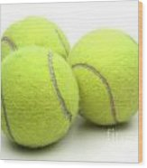 Tennis Balls Wood Print