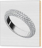 The Beauty Wedding Ring Wood Print