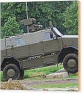 The Dingo 2 Mppv Of The Belgian Army Wood Print