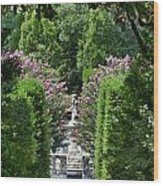 The Elizabethan Gardens Wood Print