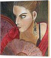 The Flamenco Dancer Wood Print by Pilar  Martinez-Byrne