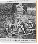 The Flood Wood Print