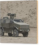 The German Army Atf Dingo Armored Wood Print