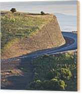 The Landscape Around The Interstate Wood Print by Don Mason