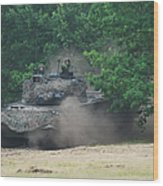 The Leopard 1a5 Main Battle Tank Wood Print