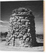 the memorial cairn on Culloden moor battlefield site highlands scotland Wood Print