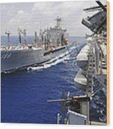 The Military Sealift Command Fleet Wood Print