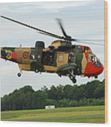 The Sea King Helicopter Of The Belgian Wood Print