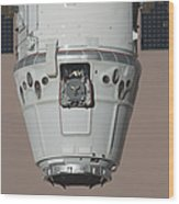 The Spacex Dragon Commercial Cargo Wood Print
