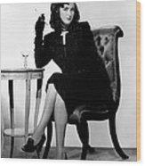 The Woman In The Window, Joan Bennett Wood Print by Everett