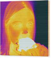 Thermogram Of A Girl Wood Print