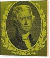 Thomas Jefferson In Yellow Wood Print