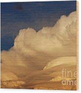 Thunderhead At Sunset Wood Print