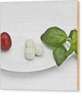 Tomato Mozzarella Wood Print