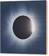 Total Solar Eclipse Wood Print by Dr Fred Espenak