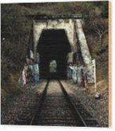 Train Tunnel At The Muir Trestle In Martinez California . 7d10220 Wood Print