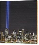Tribute In Light 2010 Wood Print by Christopher Kirby