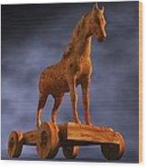 Trojan Horse, Computer Artwork Wood Print