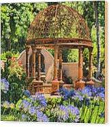 Tuscan Garden Wood Print