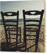Two Chairs Wood Print