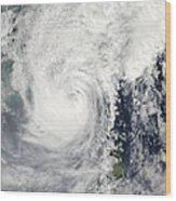 Typhoon Megi Wood Print