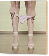 Underpants Wood Print