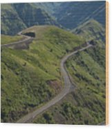Usa, Washington, Asotin County, Mountain Road Wood Print by Gary Weathers