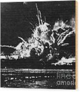 Uss Shaw, Pearl Harbor, December 7, 1941 Wood Print