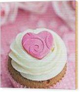 Valentine Cupcake Wood Print