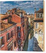 Venice Canal Wood Print