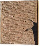 Venus Tablet Of Ammisaduqa, 7th Century Wood Print