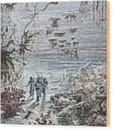 Verne: 20,000 Leagues, 1870 Wood Print by Granger