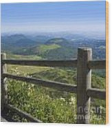 View From Puy De Dome Onto The Volcanic Landscape Of The Chaine Des Puys. Auvergne. France Wood Print