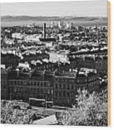 View Of Edinburgh New Town Skyline Towards The Docks At Leith And Firth Of Forth From Calton Hill Ed Wood Print