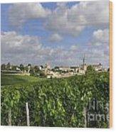 Village And Vineyard Of Saint-emilion. Gironde. France Wood Print