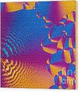 Vitamin H Crystal Wood Print