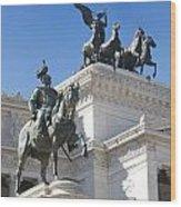 Vittoriano. Monument To Victor Emmanuel II. Rome Wood Print