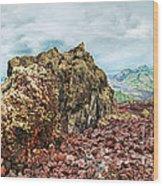 Volcano Batur Wood Print