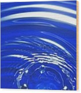 Water Drop Impact, High-speed Photograph Wood Print