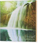 Waterfall Pool Wood Print
