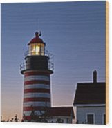 West Quoddy Head Lighthouse Wood Print by John Greim
