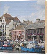 Weymouth Harbour Wood Print