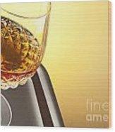 Whiskey In Stem Glass Wood Print