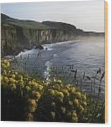 Wildflowers At The Coast, County Wood Print