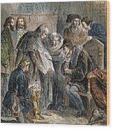 William Tyndale (1492?-1536) Wood Print
