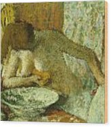 Woman At Her Toilet Wood Print